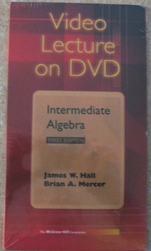 9780072560923: Video DVD for use with Intermediate Algebra, The Language and Symbolism of Mathematics