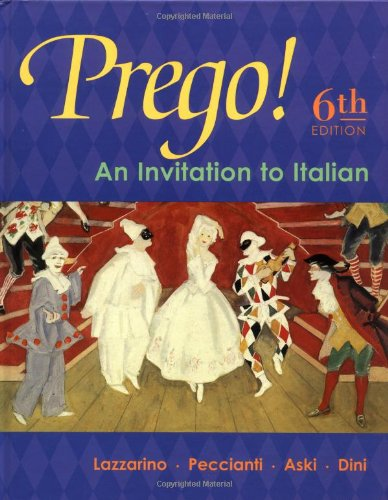 9780072561319: Prego! An Invitation to Italian (Student Edition)