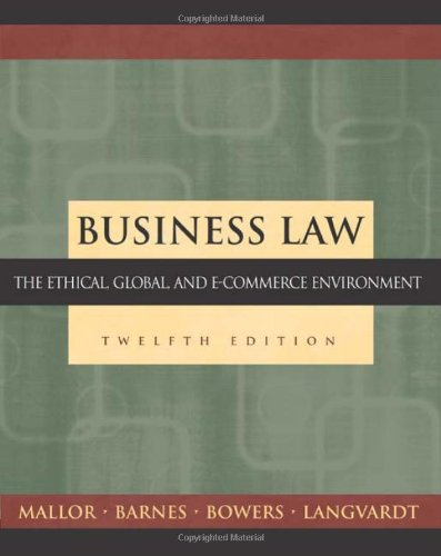 9780072562002: Business Law: The Ethical, Global, and E-Commerce Environment