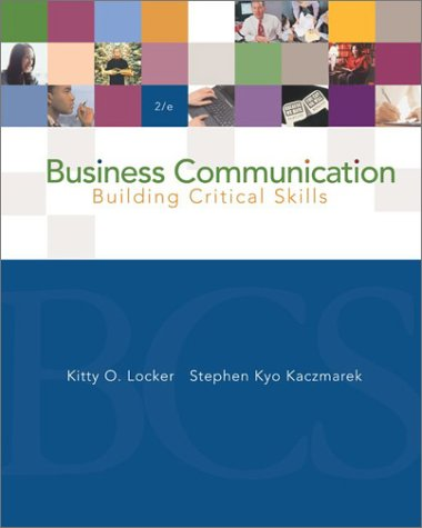 9780072562194: Business Communication: Building Critical Skills