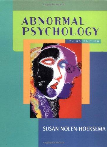 9780072562460: Abnormal Psychology