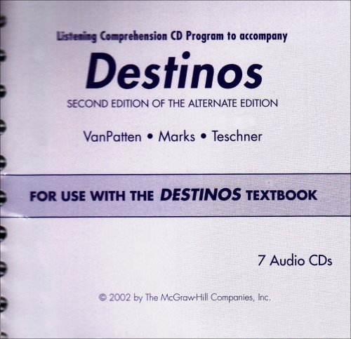 9780072562569: Destinos Listening Comprehension CD Program: For Use with the Destinos Textbook