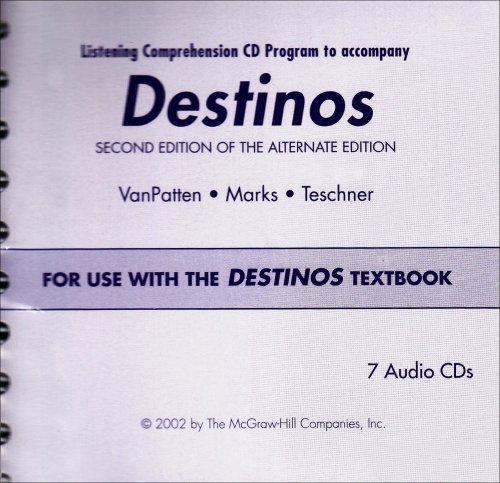 9780072562569: Destinos Listening Comprehension Audio CD Prepack