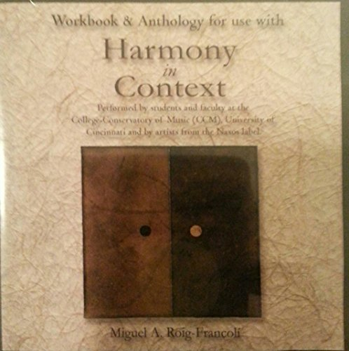9780072562798: Workbook & Anthology for Use With Harmony in Context (CD-ROM)