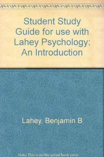 9780072563153: Student Study Guide for use with Lahey Psychology