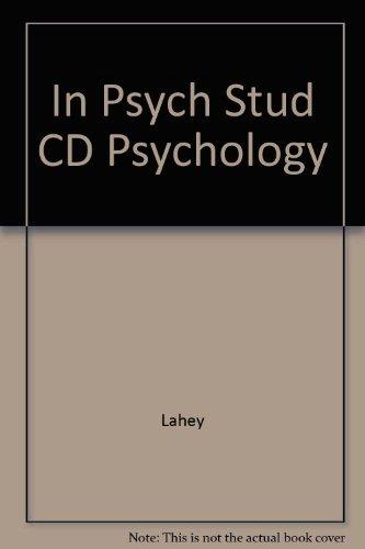 9780072563214: In-Psych Student CD-ROM to accompany Lahey Psychology