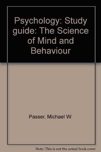 9780072563405: Psychology: Study guide: The Science of Mind and Behaviour