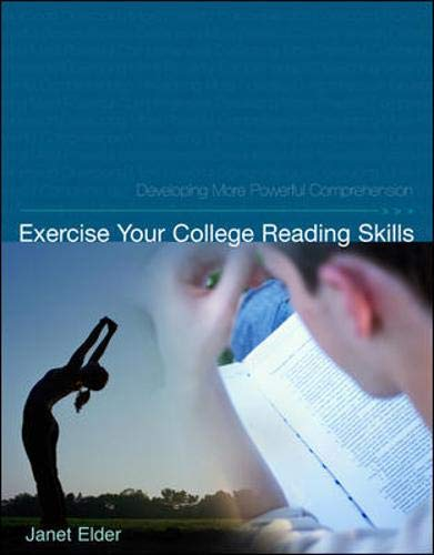 9780072563801: Exercise Your College Reading Skills: Developing More Powerful Comprehension