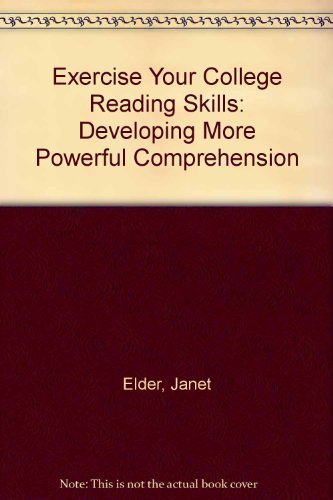 9780072563818: Exercise Your College Reading Skills: Developing More Powerful Comprehension
