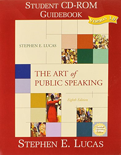 9780072564150: The Art of Public Speaking, Student CD Rom 3.0, 8th Edition