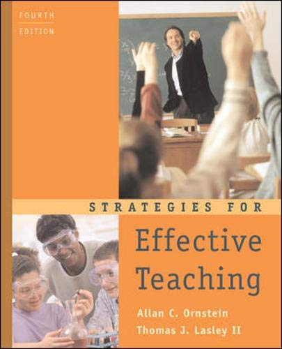 9780072564280: Strategies for Effective Teaching