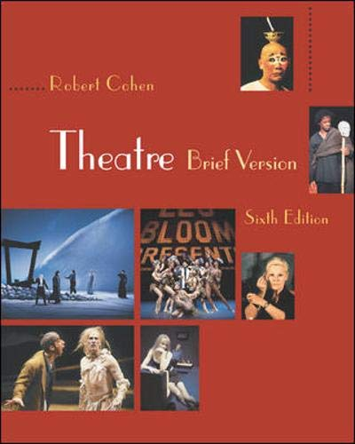 9780072564914: Theatre, Brief Version