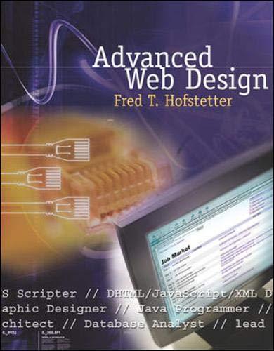 9780072565942: Advanced Web Design