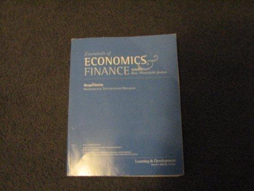 Essentials of Economics & Finance, Morgan Stanley Professional Foundations Program: Schiller