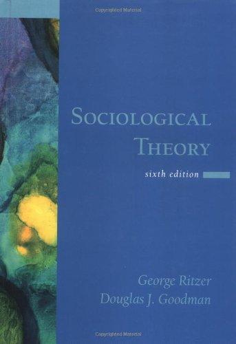 9780072817188: Sociological Theory