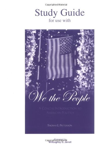 9780072817362: We the People (Study Guide)