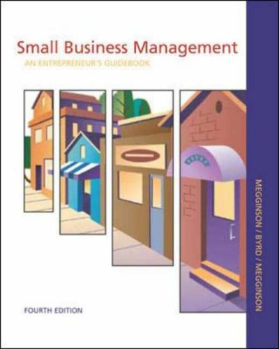 9780072817973: Small Business Management: An Entrepreneur's Guidebook with CD Business Plan Templates