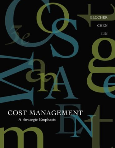 9780072818369: Cost Management: A Strategic Emphasis