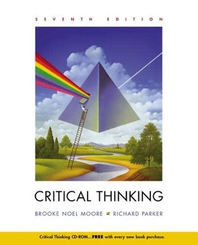 9780072818819: Critical Thinking