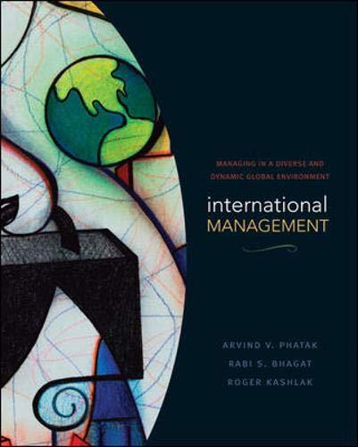 International Management: Managing in a Diverse and: Arvind V. Phatak,