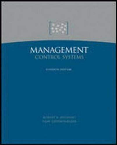9780072819311: Management Control Systems