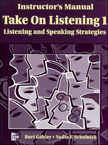 9780072819786: TAKE ON LISTENING 1: INSTRUCTOR'S MANUAL with Tapescript + Answer Key: Listening/Speaking Strategies