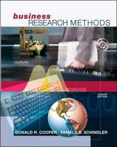 Business Research Methods with Student CD-ROM: Donald R Cooper,