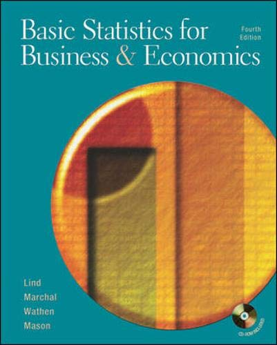 Basic Statistics for Business and Economics, 4th: Lind, Douglas A.