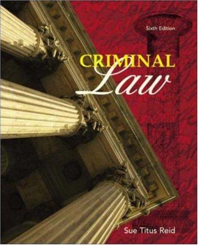 9780072820089: Criminal Law