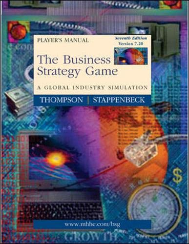 9780072820096: Business Strategy Game Player's Package V7.20 (Manual, Download Code Sticker & CD)
