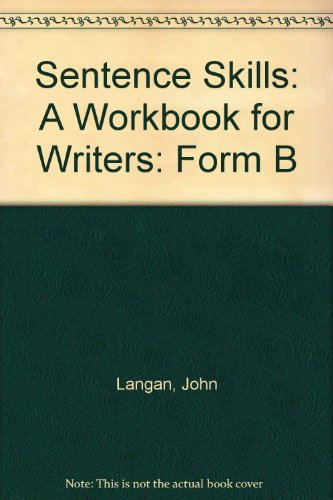 9780072820881: Sentence Skills A Workbook for Writers: Form B