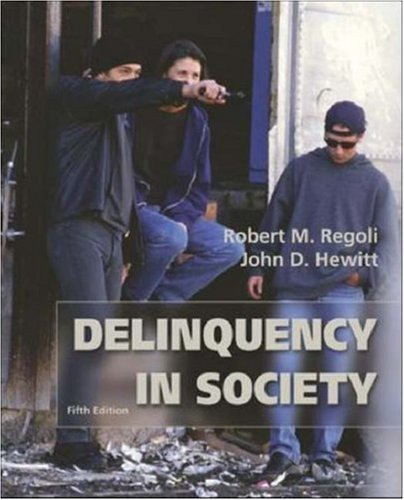 9780072821208: Delinquency in Society