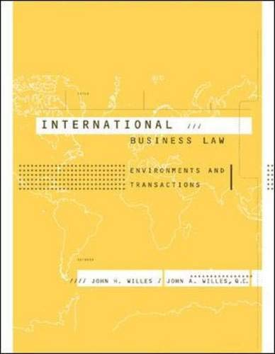 9780072822519: International Business Law