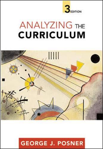 9780072823271: Analyzing The Curriculum