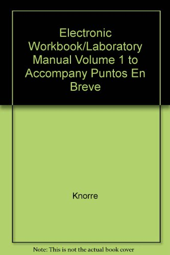 9780072825183: Electronic Workbook/Laboratory Manual  to accompany Puntos en breve: A Brief Course