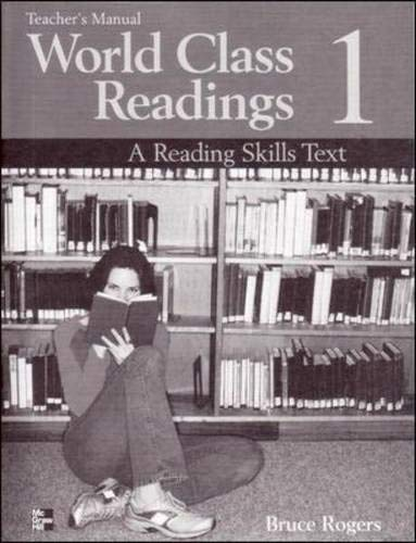 9780072825466: WORLD CLASS READINGS 1 Teacher's Manual/Answer Key: A Reading Skills Text: Teacher's Manual/answer Key Bk. 1
