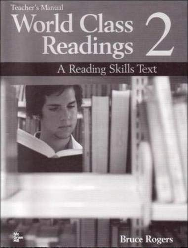 9780072825497: WORLD CLASS READINGS 2 Teacher's Manual/Answer Key: A Reading Skills Text: Teacher's Manual/answer Key Bk. 2