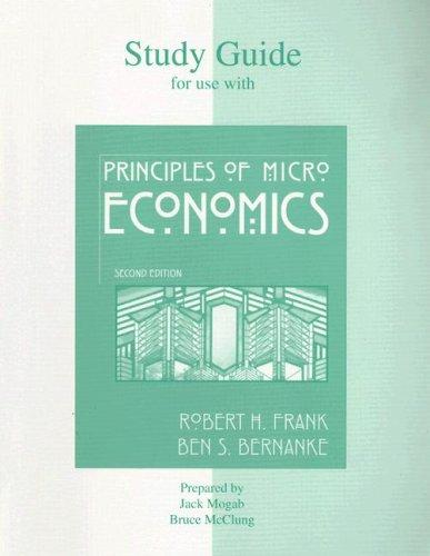 Study Guide t/a Principles of Microeconomics: John Mogab