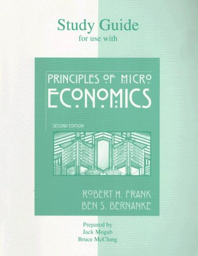 9780072826005: Study Guide t/a Principles of Microeconomics