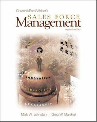 9780072826340: Sales Force Management: With Excel Spreadsheets