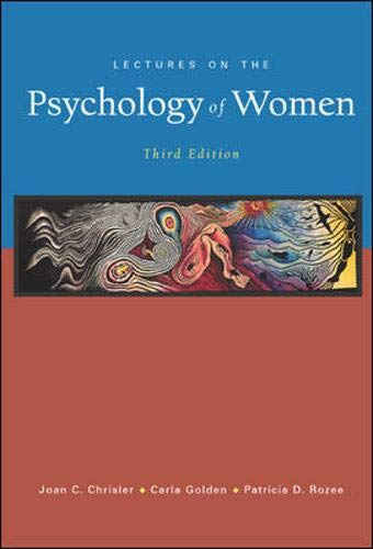 9780072826715: Lectures on the Psychology of Women