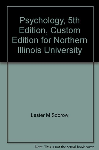 9780072827552: Psychology, 5th Edition, Custom Edition for Northern Illinois University
