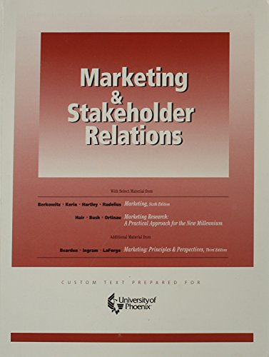 9780072827699: Marketing and Stakeholder-PR