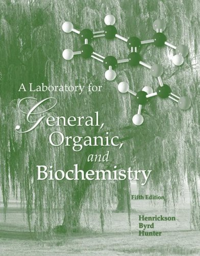 9780072828481: Lab Manual by Henrickson to accompany General, Organic And Biochemistry