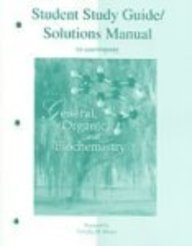 9780072828498: Student Study Guide and Solutions Manual to accompany General, Organic, and Biochemistry