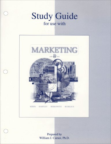 9780072828917: Study Guide to accompany Marketing: Student Study Guide