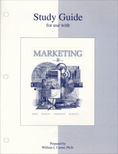 9780072828917: Study Guide to accompany Marketing