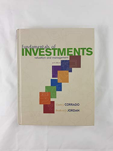 9780072829198: Fundamentals of Investments: Valuation and Management (The Mcgraw-Hill/Irwin Series in Finance, Insurance, and Real Estate)