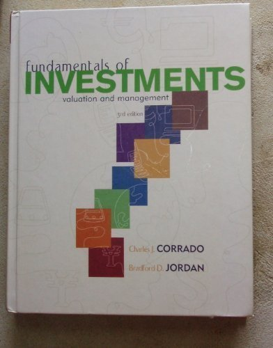 Fundamentals of Investments: Valuation and Management (The: Corrado, Charles J.,