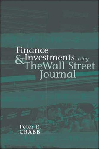 9780072829365: Finance and Investments Using The Wall Street Journal